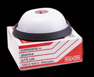 Campana de alarma blanca de 10x10cm con caja - Waxon