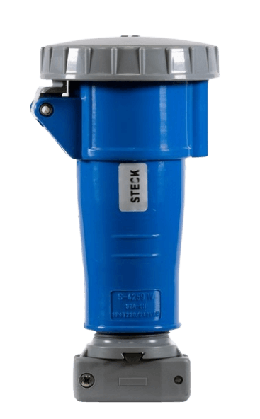 Ficha industrial hembra acople Brasikon azul - Steck