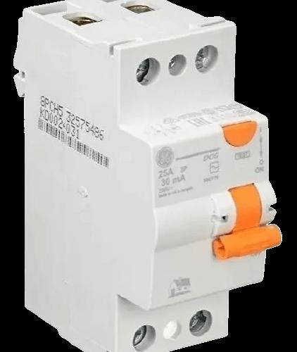 Interruptor diferencial disyuntor bipolar AC 30mA línea DMS interruptor naranja - General Electric