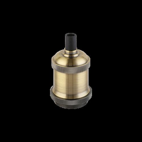 Portalámparas Jersey bronce E27 - Macroled