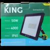 Caja de reflector-proyector LED 50W luz fría, foto frontal - King