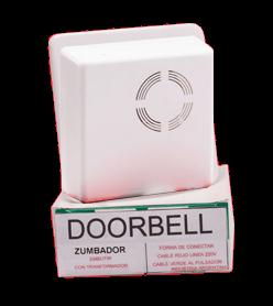 Zumbador blanco de 10x10cm Doorbell con caja - Waxon