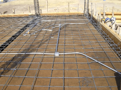 Canalización eléctrica en piso