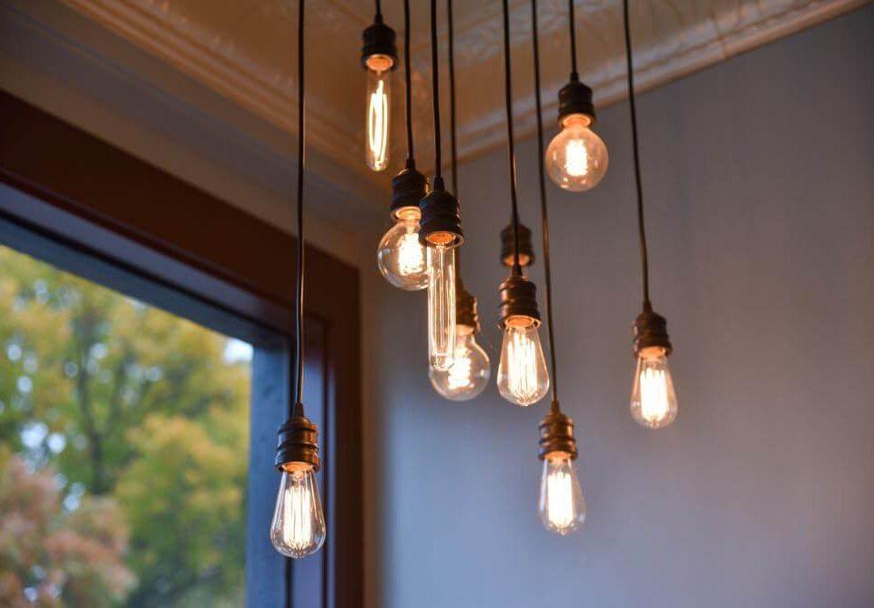 Iluminación ambiental con lámparas golden