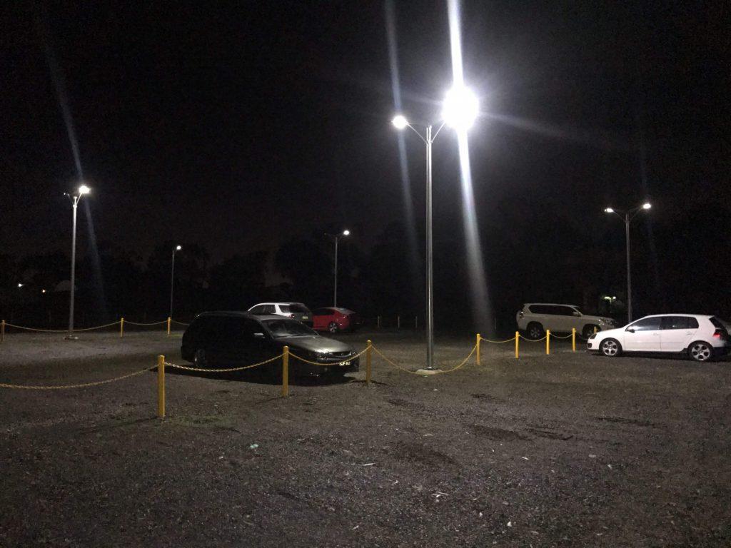 Iluminación en estacionamiento