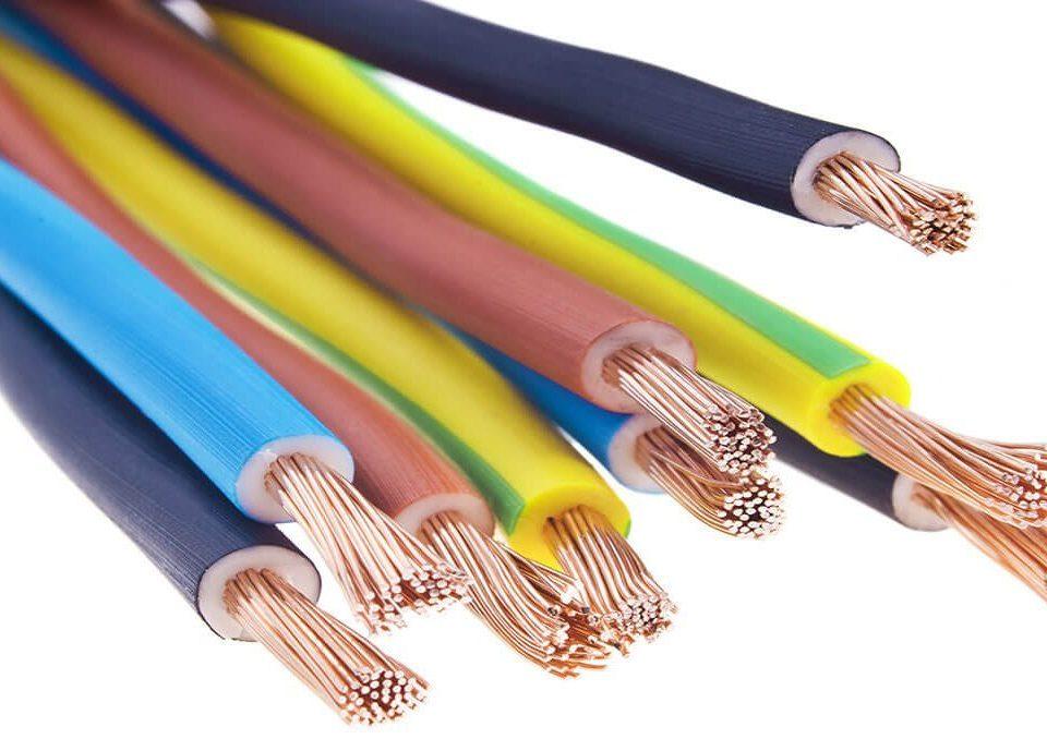 Cables unipolares de diferentes colores