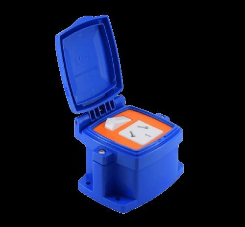 Caja capsulada PVC exterior 1 punto y toma - MIG