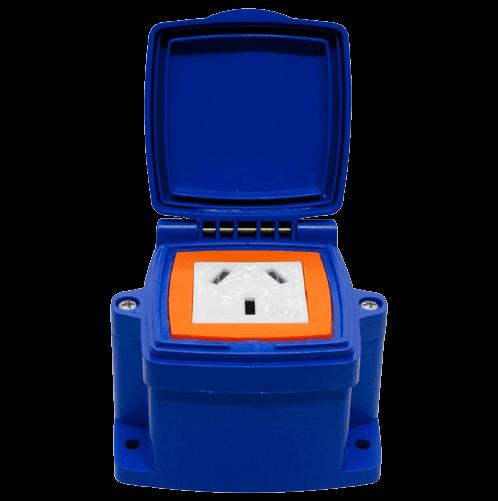 Caja capsulada PVC exterior 1 toma 20A - MIG