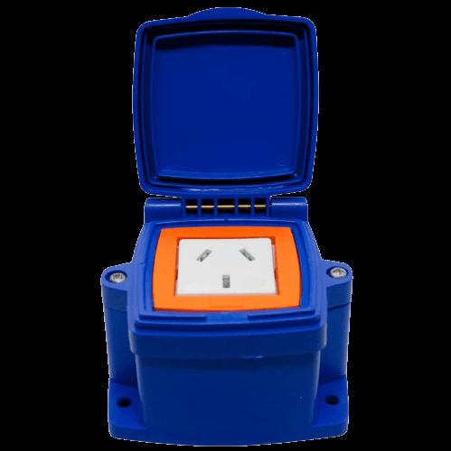 Caja capsulada PVC exterior 1 toma polarizado - MIG